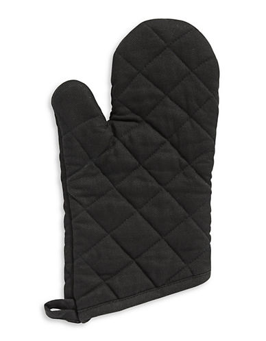 Distinctly Home Twill Oven Mitt-BLACK-One Size