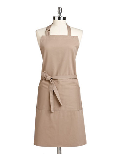 Distinctly Home Cotton Twill Apron-TAUPE-One Size
