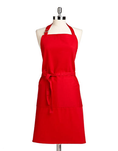 Distinctly Home Cotton Twill Apron-RED-One Size