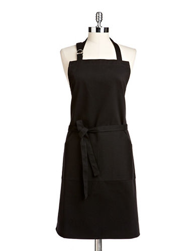 Distinctly Home Cotton Twill Apron-BLACK-One Size