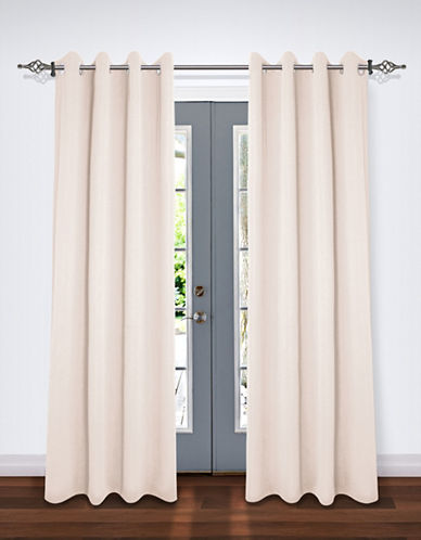 Home Studio Pack of Two Crinkle Effect Drape Panels-IVORY-84 inches