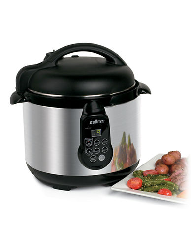 Salton 5 in 1 Electronic Pressure Cooker - 5L-STAINLESS STEEL-One Size