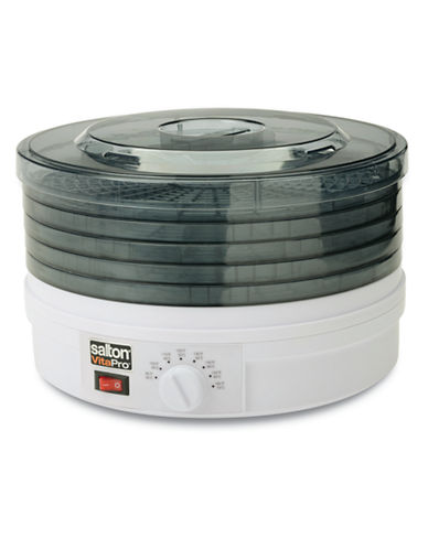 Salton Food Dehydrator with Collapsible Trays-WHITE-One Size