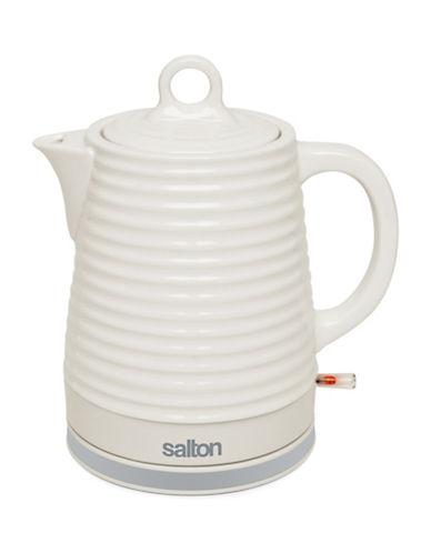 Salton 1.2L Ceramic Kettle-WHITE-One Size