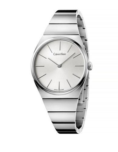 Calvin Klein Unisex Analog Supreme Watch-SILVER-One Size
