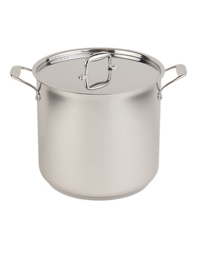 Paderno 19 Litre Steel Stock Pot-STAINLESS STEEL-19