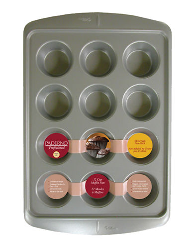 Paderno 12 Cup Muffin Pan-STEEL-One Size