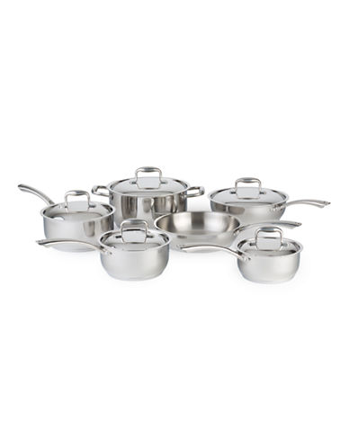 Paderno 11-Piece Steel Eternity Cookware Set - Induction Ready-STAINLESS STEEL-One Size