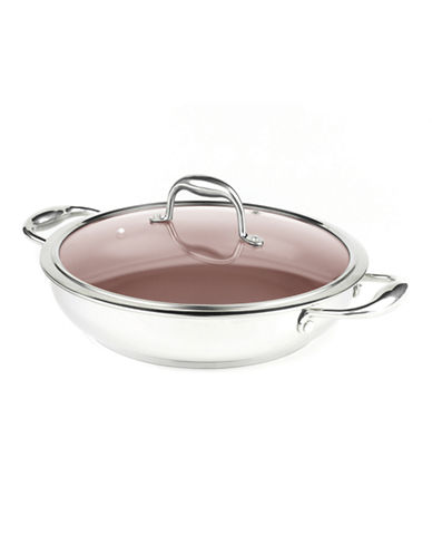 Paderno Stainless Steel Everyday Pan-SILVER-28 cm