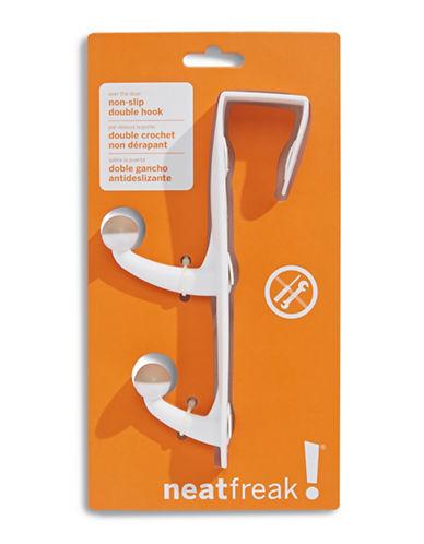 Neatfreak Over-the-Door Double Hook-WHITE-One Size