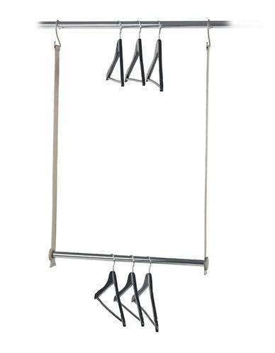 Neatfreak Double Hanging Closet Bar Chrome-CHROME-One Size