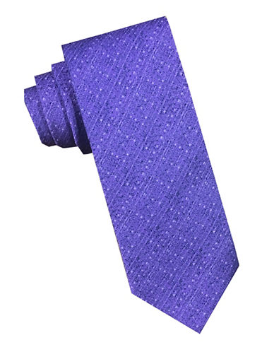 Perry Ellis Textured Tonal Silk Tie-MAUVE-One Size