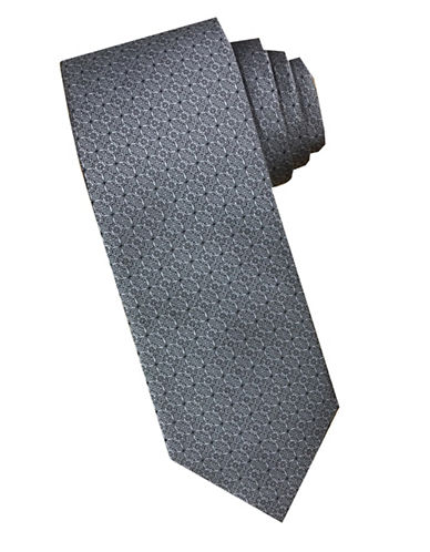 Perry Ellis Baroque Silk Tie-GREY-One Size