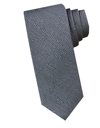 Perry Ellis Textured Silk Blend Tie-GREY-One Size