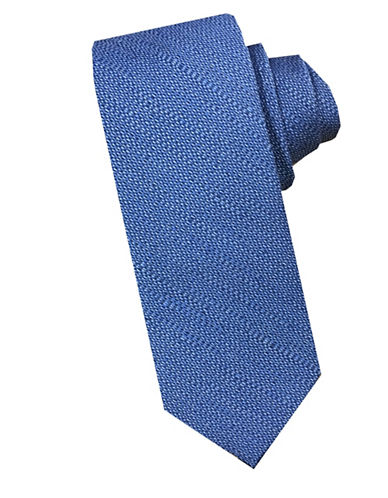 Perry Ellis Textured Silk Blend Tie-BLUE-One Size