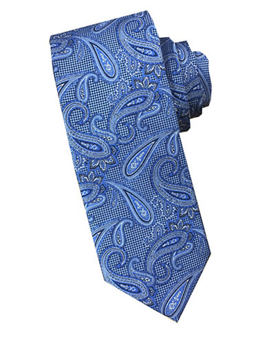 Perry Ellis Paisley Silk Tie-ROYAL-One Size