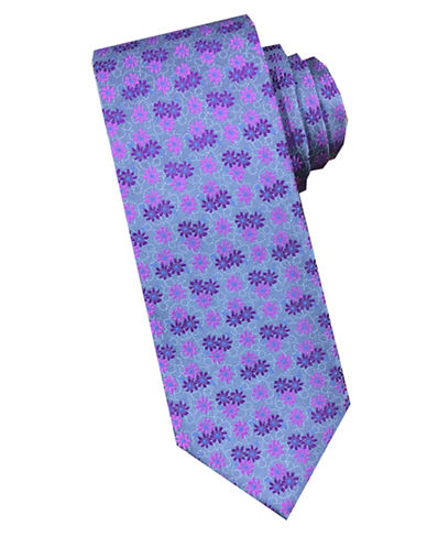 Perry Ellis Floral Silk Tie-PINK-One Size