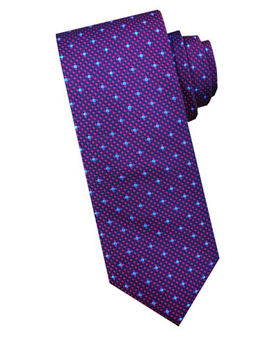 Perry Ellis Box Dot Silk Tie-RED-One Size
