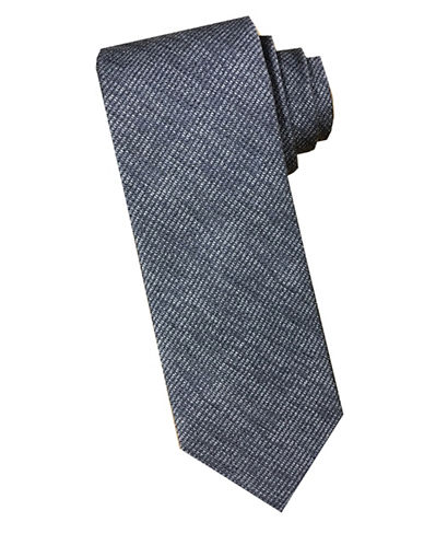 Perry Ellis Tonal Silk Tie-GREY-One Size