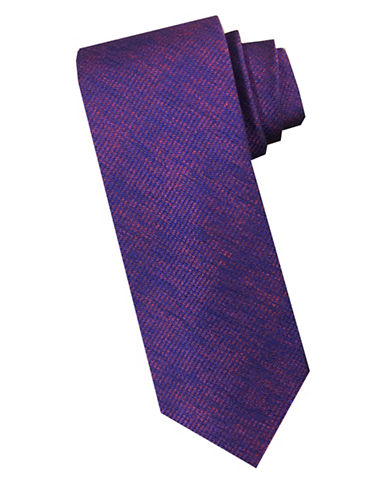 Perry Ellis Tonal Silk Tie-RED-One Size