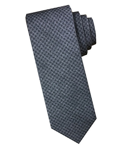 Perry Ellis Textured Silk Tie-GREY-One Size
