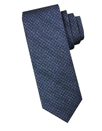 Perry Ellis Textured Tonal Silk Tie-BLUE-One Size