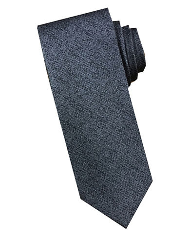 Perry Ellis Textured Tonal Silk Tie-CHARCOAL-One Size