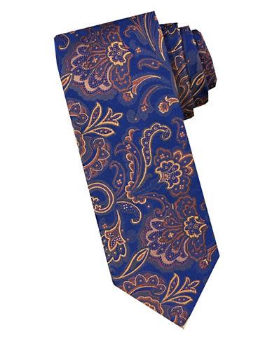 Perry Ellis Persian Paisley Silk Tie-ORANGE-One Size