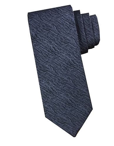 Perry Ellis Wave Silk Tie-CHARCOAL-One Size