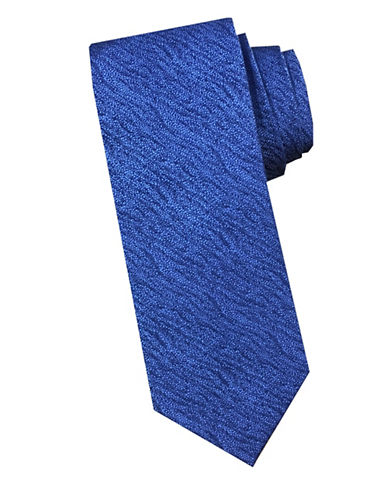 Perry Ellis Wave Silk Tie-BLUE-One Size