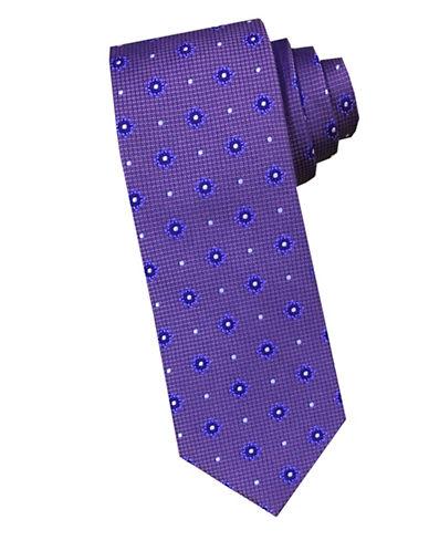 Perry Ellis Stars Silk Tie-PURPLE-One Size
