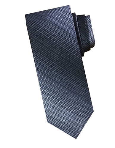 Perry Ellis Stripe Silk Tie-CHARCOAL-One Size