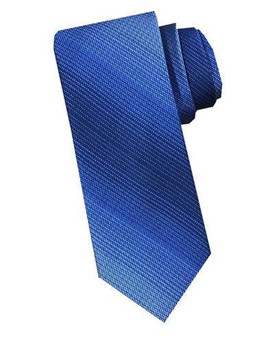 Perry Ellis Stripe Silk Tie-BLUE-One Size