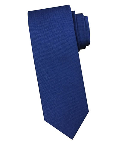 Perry Ellis Tonal Silk Tie-NAVY-One Size