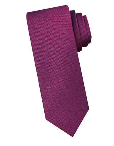 Perry Ellis Nailhead Silk Tie-RED-One Size