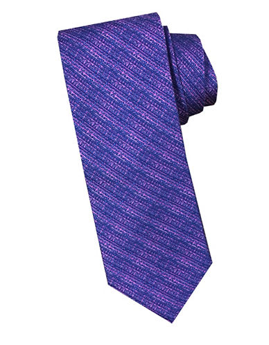 Perry Ellis Striped Silk Tie-PINK-One Size
