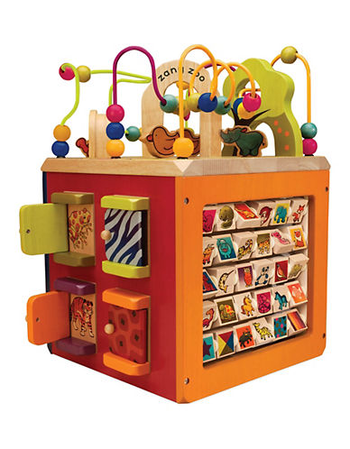 B. Zany Zoo Wooden Activity Cube-MULTI-One Size 88581966_MULTI_One Size