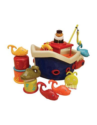 B. Fish N Splash Bath Boat Set-MULTI-One Size