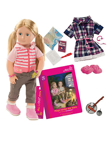 Our Generation Deluxe Camping Shannon Doll with Book-MULTI-One Size