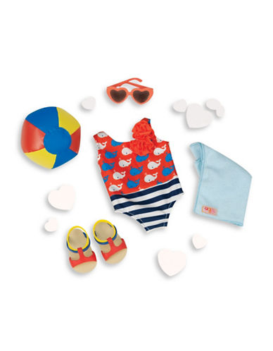 Our Generation Swimsuit with Whales Beach Outfit Set-MULTI-One Size 88579035_MULTI_One Size
