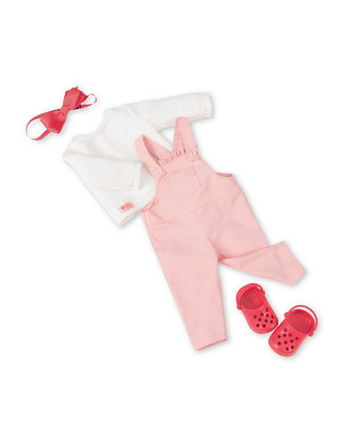 Our Generation Overall and Sweatshirt Outfit Set-MULTI-One Size