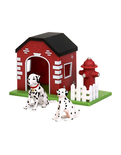 Terra Dogs in House and Hydrant Toy-MULTI-One Size