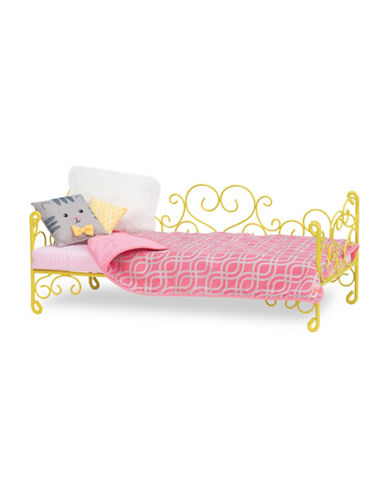 Our Generation Our Generation Yellow Heart Scroll Bed-MULTI-One Size 88581950_MULTI_One Size