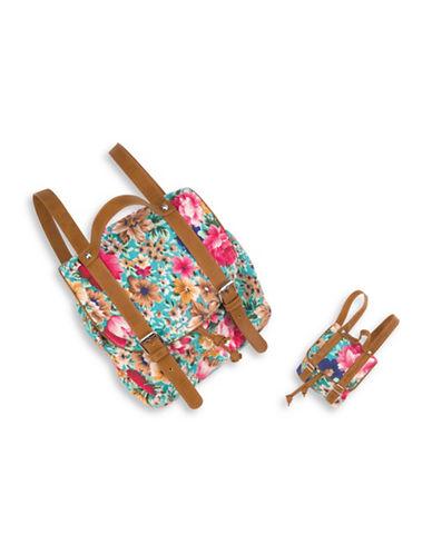 Our Generation Floral Knapsack Set-MULTI-One Size