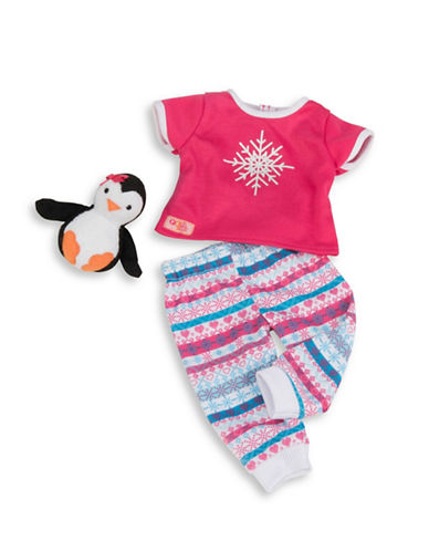Our Generation Plush Penguin and Pyjama Outfit Set-MULTI-One Size