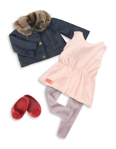 Our Generation Jean Jacket and Fur Collar Outfit Set-MULTI-One Size