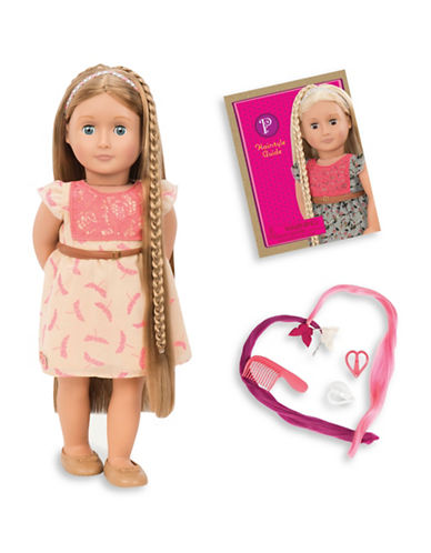 Our Generation Hairgrow Portia Doll with Book-MULTI-One Size