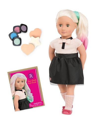 Our Generation Amya Hair Chalk Doll with Book-MULTI-One Size 88579099_MULTI_One Size