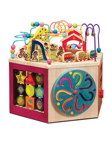 B. Wooden Youniversity Activity Cube-MULTI-One Size