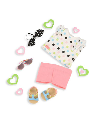Our Generation Polka Dot Top & Shorts Doll Outfit-MULTI-One Size